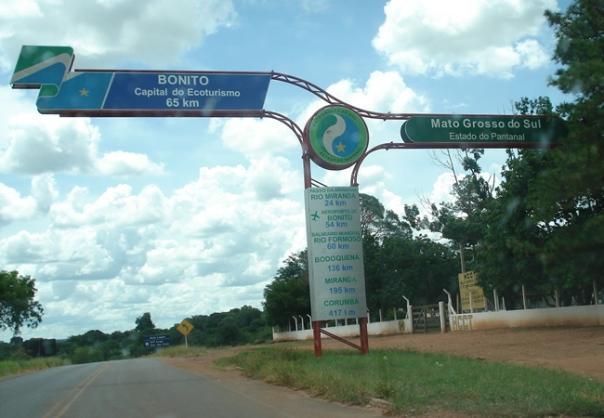 Não tem como se perder. É só seguir as placas e voc6e chega a Bonito ou ao Pantanal