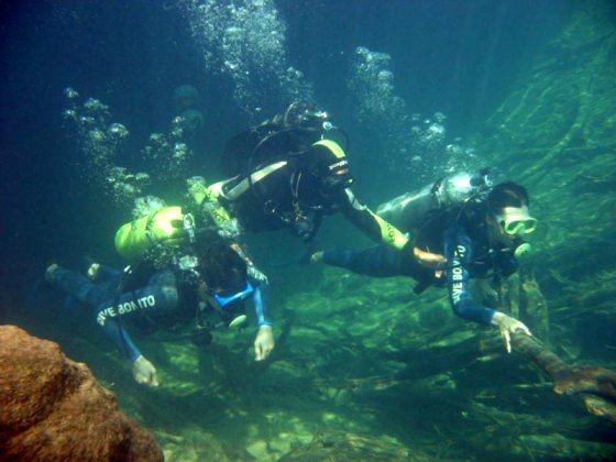 mergulho com cilindro bonito ms